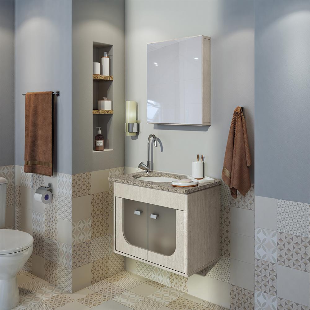 Otimize o espaço em banheiros pequenos com gabinetes compactos da gaam seu estilo de banheiro