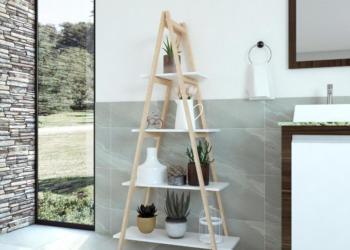 Estante de madeira Sarin Gaam seu estilo de banheiro gabinete versa