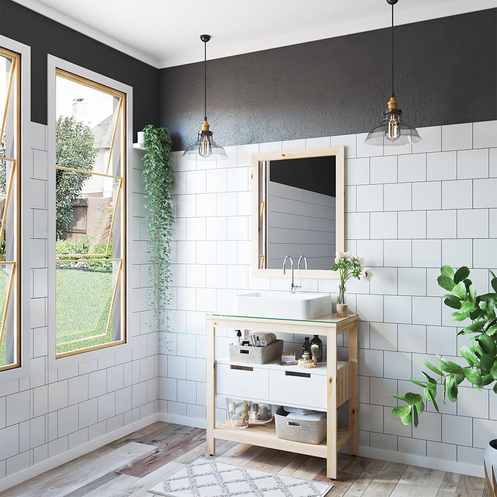 Banheiro no estilo natural