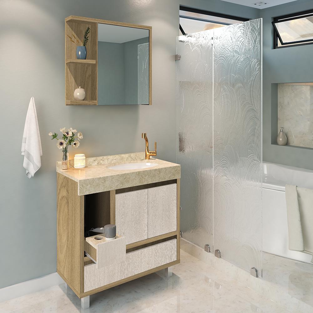 área molhada do banheiro